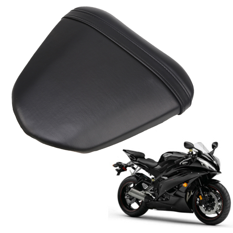 Black Leather Vintage Motorcycle Seat Bike Black Rear