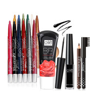Professional 12 Colors Automatically Rotatory Waterproof Eyeshadow Pens And 3pcs Makeup Kit For Eye Makeup Foundation