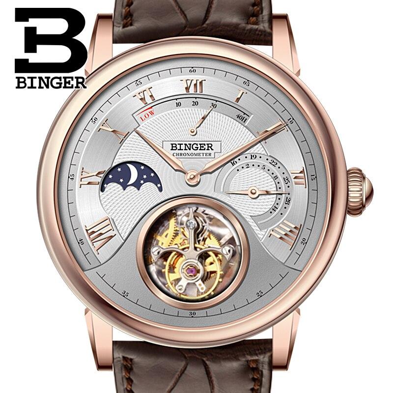 Switzerland BINGER Watches Men Brand Luxury Seagull Automatic Movement Watch Male Tourbillon Sapphire Alligator Hide B80801-3 шина nokian nordman rs2 175 65 r15 88r