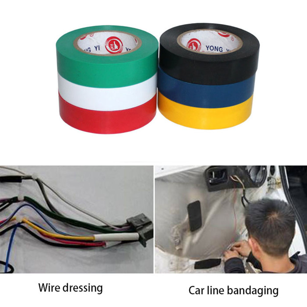 9m PVC Waterproof Self- Adhesive Electric Tape Electrician Wire Insulation Flame Retardant Plastic Tape Electrical High Voltage
