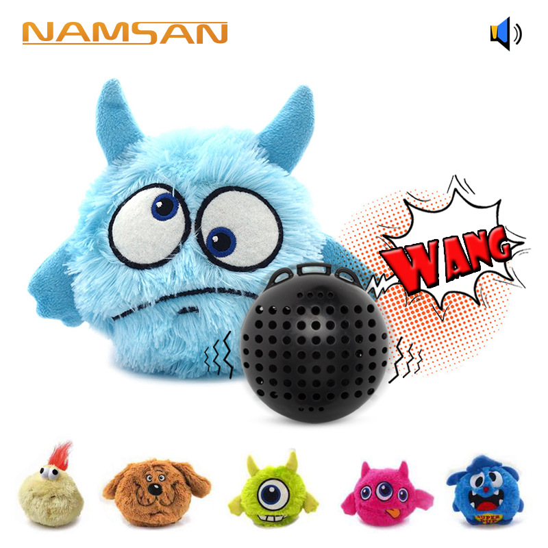 Pet supplies dog sound vibration electric toy ball scratch bounce plush manufacturers direct sale