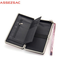 Assez Sac Wallet PU Leather Wallet Women Fashion Concise Cool Bag Bags For Girl Female Hasp