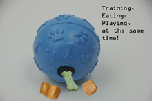PETSEEKER The ball training pet dog and cat food to chew toys natural rubber toys play puppy security interaction
