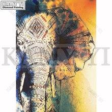 Алмазная вышивка живопись 3D полная дрель Алмазная мозаика вышивка крестиком «Слон узор» Полная вставка живопись DIY ремесла Декор