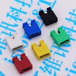 100 шт./лот 2,54 мм Стандартный печатная плата джемпер кепки Шунты крышка короткого замыкания компьютер джемпер шунта кепки