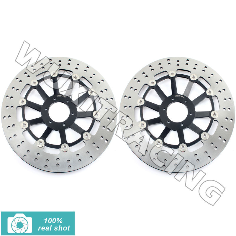fit for Honda CBR 1100 XX Super Blackbird 99 08 CB 1100 SF X Eleven 00 04 CB 1300 1284/F F1 01 02 Round Front Brake Discs Rotors