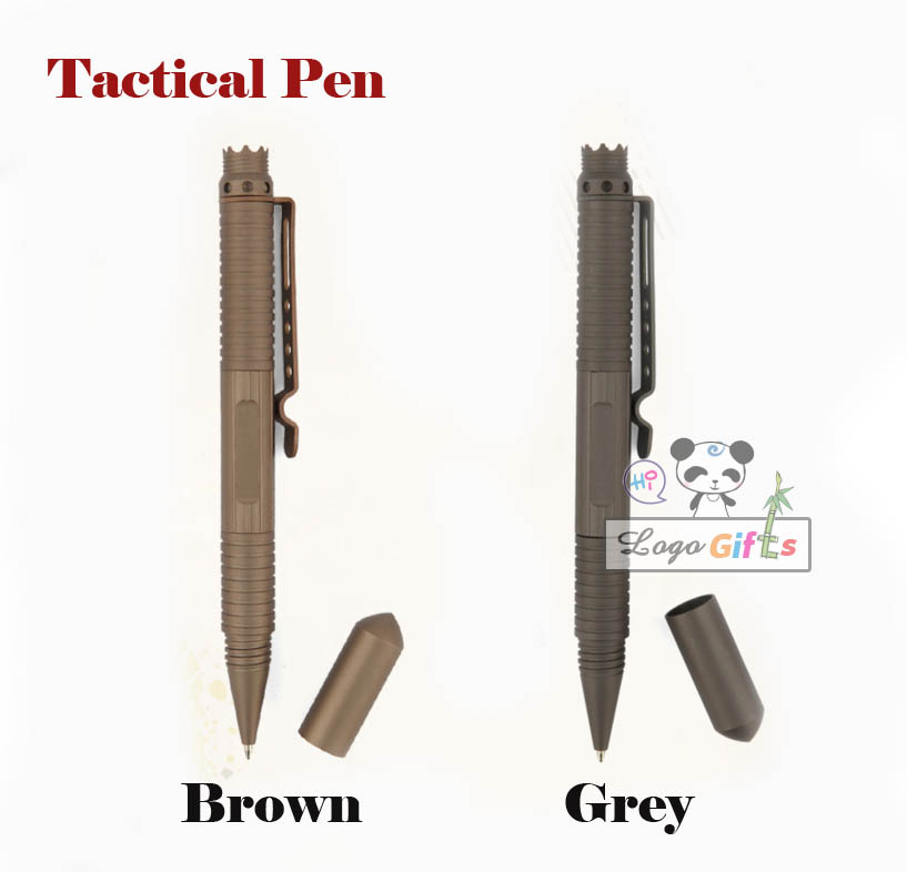 Portable Tactical Pen writing pen with black ink and blue ink refills Aviation Aluminum Anti skid Self Defense Cooyoo Tool in Ballpoint Pens from Office School Supplies