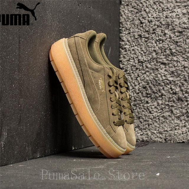 2018 PUMA Womens Platform Trace WNS Suede Trainers Badminton Shoes 365830-03  Rihanna 4 Thick Bottom Women Sneakers 35.5-40 a509eb4dd
