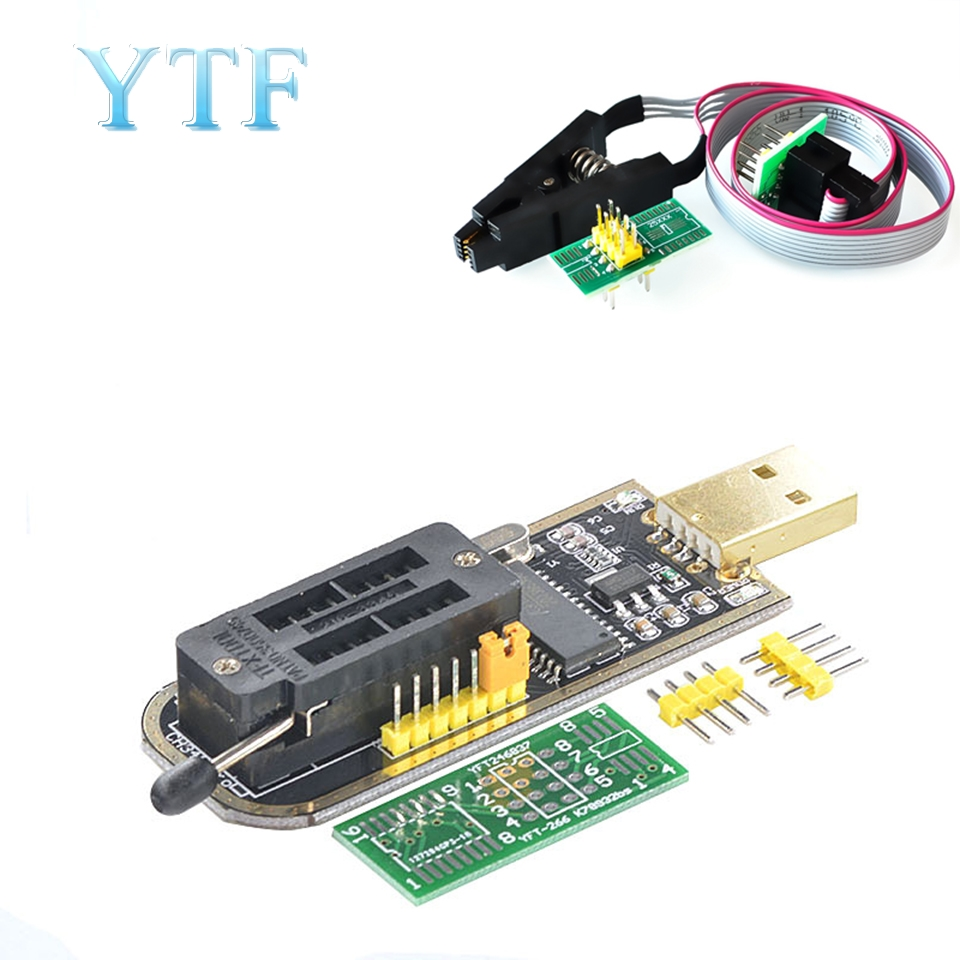 CH341 24 25 Series EEPROM Flash BIOS USB Programmer Module + SOIC8 SOP8 Test Clip For EEPROM 93CXX / 25CXX / 24CXX