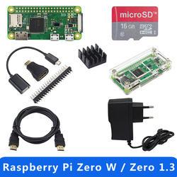 Лидер продаж Raspberry Pi Zero 1,3 или Raspberry Pi Zero W стартовый комплект + акриловый чехол + GPIO заголовок + теплоотвод 1 ГГц процессор 512 Мб оперативная
