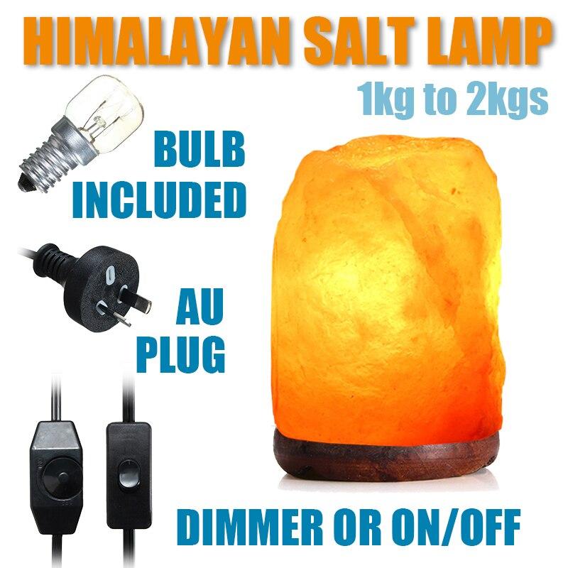 220V Air Purifier Crystal Salt Lamp Night Light Dimmer Button Switch Desk Light AU Plug E14 Bulb Wooden Base Bedroom Home Decor цена