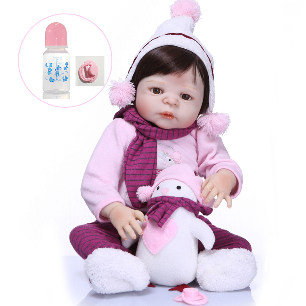 soft Straight Hair Wig For 55 57cm Reborn Dolls High Quality Reborn Dolls 100% Non toxic and comfortable For Sale Accessories
