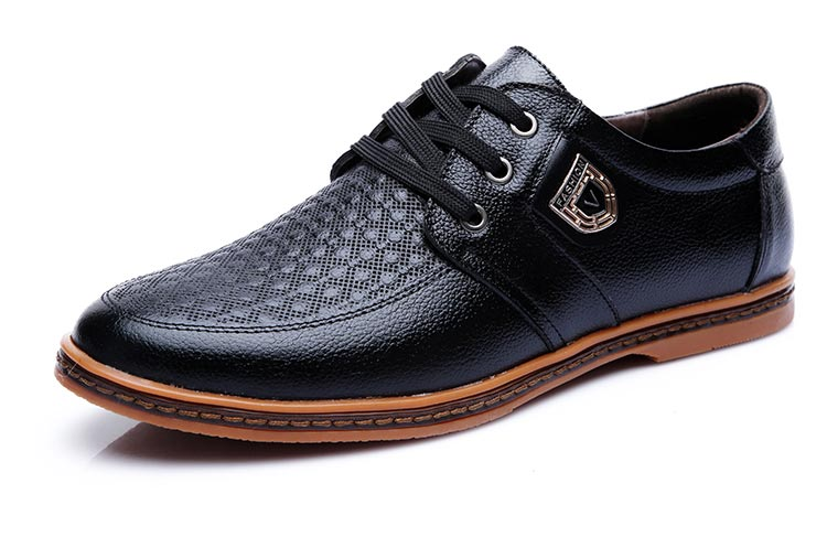 HTB1EdPqbwnD8KJjy1Xdq6yZsVXan 2019 Men Leather Casual Shoes Men's Lace Up Footwear Business Adult Moccasins Male Shoes Chaussure Home