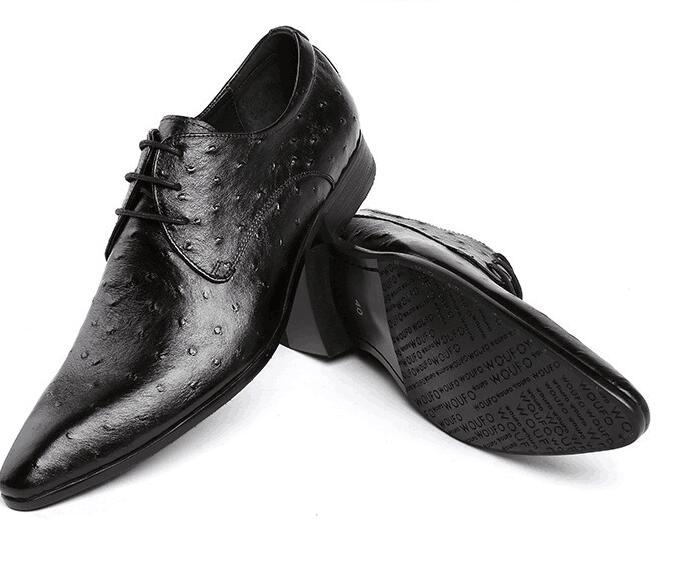 Homens Genuíno as Vestido Sapatos Festa Apontou As À Impressão 2 1 Pic Estilo Primavera Novo Mão Up Falt Lace Casamento Feitos Oxfords Couro De Toe r40qgwvr