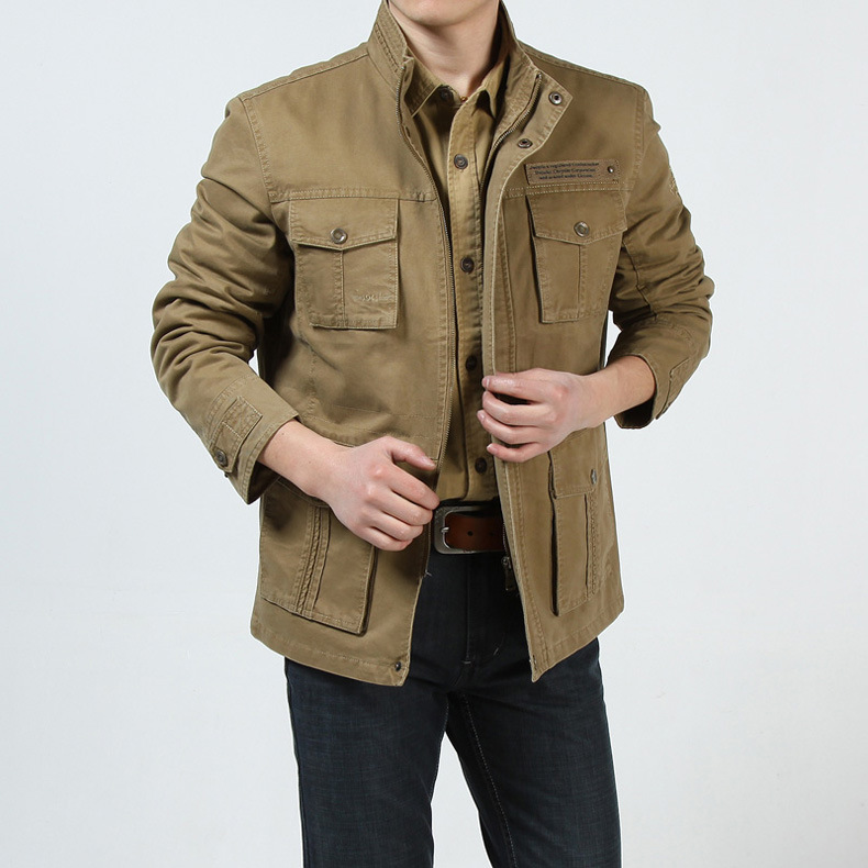 AFS JEEP Brand Jacket Men 2018 Thick Warm Fleece Winter Jacket Men Army Military Jackets Coats With Many Pockets Chaqueta Hombre-in Jackets from Men's Clothing    3
