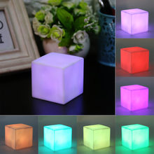 1 Piece Mood Night Light LED Color Changing Mood Cube Night Light Table Lamp long time use Gadget Home Party Decoration(China)
