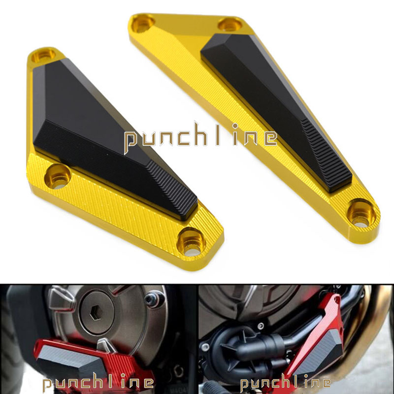 For YAMAHA MT-07/ FZ-07 MT07/FZ07 2014-2016 Motorcycle CNC Aluminum Engine Protector Guard Cover Frame Slider Gold for yamaha mt07 mt 07 fz mt 07 fz07 2014 2017 cnc motorcycle crash pads frame sliders protector cover motorbike accessories part