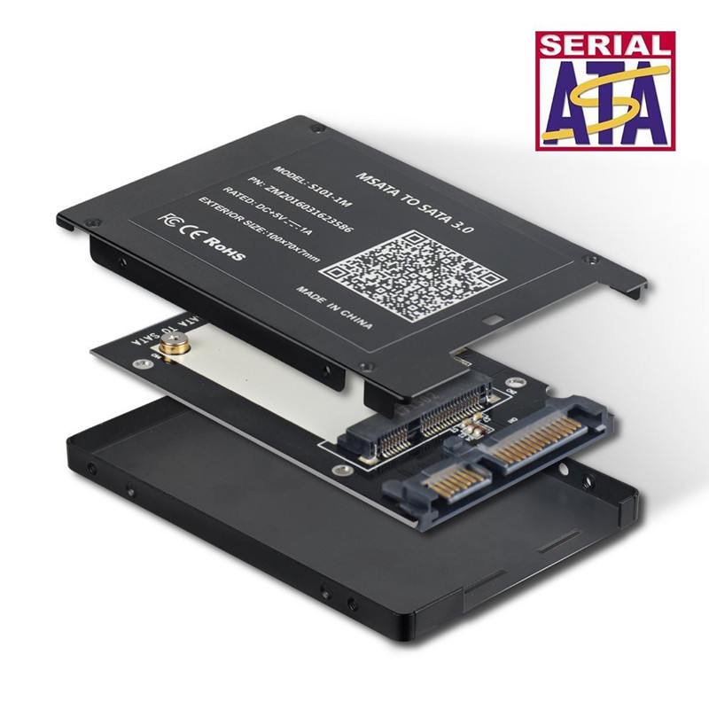 Adapter-Card SSD Thickness-Protective-Case HDD To Converter with 7mm title=