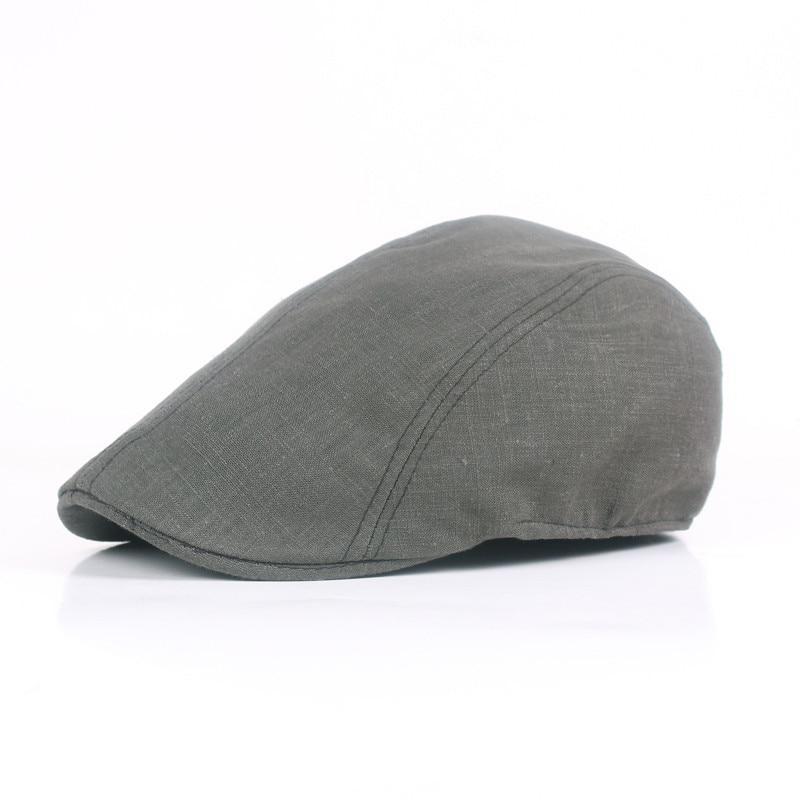 41f233c1fd5 Monochrome Simple Beret Cotton Leisure England Forward Hat Wholesale Retro  Wild Cap Men and Women Hat LU0243
