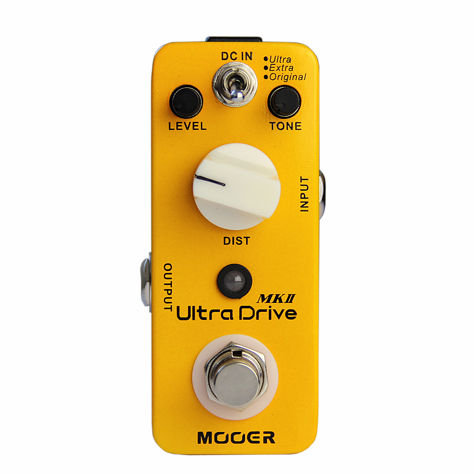 NEW Mooer Effect Pedal/ electric guitar pedal Ultra Drive MK 2/Distortion Pedal effects new effect pedal mooer hustle drive distortion pedal true bypass excellent sound