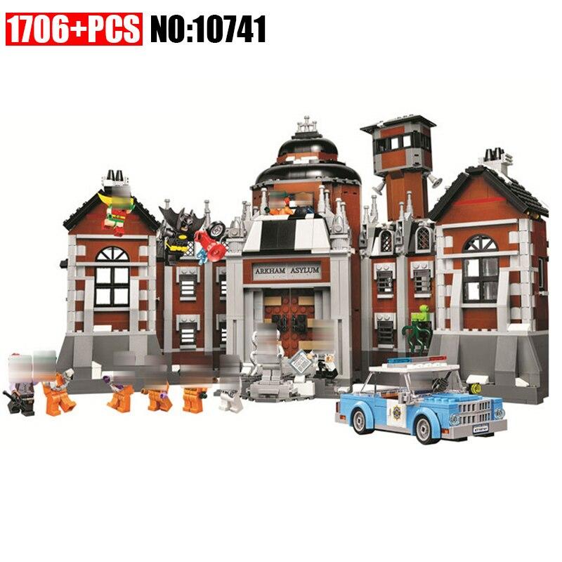 Bela 10741 Véritable Série Arkham Asylum Robin Building Block 1743 Pcs Briques Compatible Avec 07055 Batman Film 70912