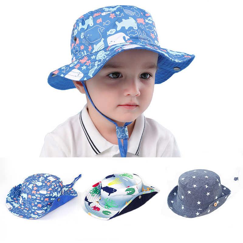 769f6744 Reversible Outdoor Baby Summer Hat Boys Hat UPF 50+ Wide Brim Toddler Hat  Beach Bucket