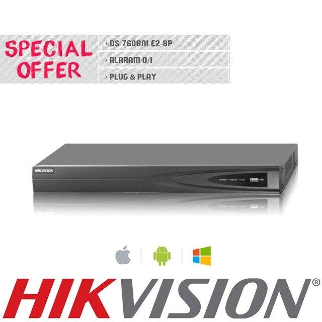 HIk NVR DS-7608NI-E2/8P 8CH POE NVR for HD IP Camera 5 Megapixels Recording 8 POE 2 SATA Security Netword Video Recorder