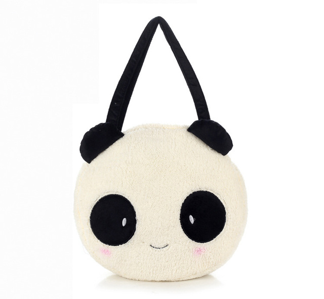 Top Quality Kawaii Women s Plush Panda Shoulder Bags.Lady Cartoon Doll Hand  Bag.Girl s Cute Big Casual Tote Handbag.Bolsos Mujer 882b0e006202a