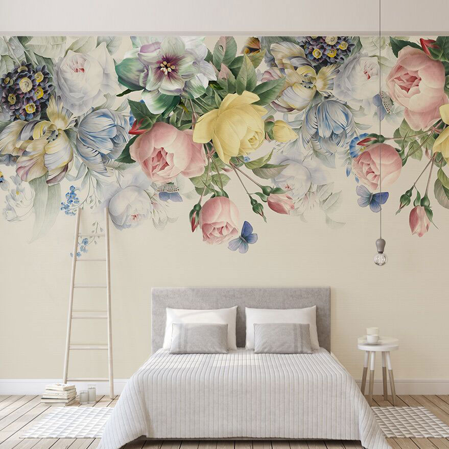 8D Murals Painting 3d Flower Wallpapers Murals for Wedding Room 3D Flower-Mural Wall paper 3d Wall Photo Murals 3d Wall sticker custom photo wallpaper 3d wall murals balloon shell seagull wallpapers landscape murals wall paper for living room 3d wall mural