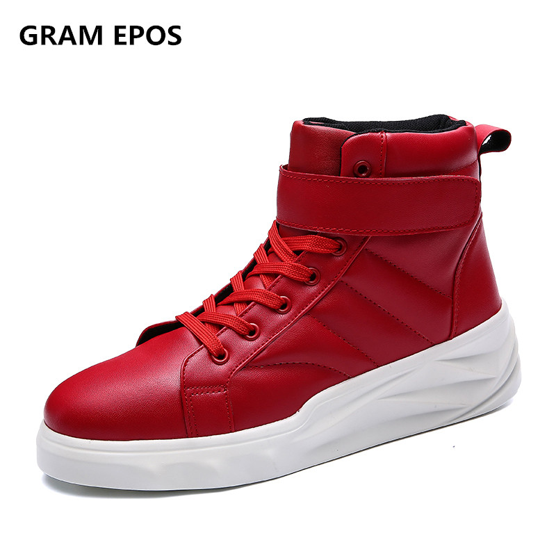 GRAM EPOS Hommes Hiver Automne Causal High Top Chaussures Hommes lacent Hauteur Augmenter Botas sapato masculino Homme Mode Chaussures
