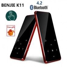 مشغل موسيقى benji K11 MP4 MP3 2.4 بوصة IPX4 مقاوم للماء HIFI بدون فقدان الصوت مشغل فيديو الصوت المحمول FM راديو Ebook مسجل الصوت