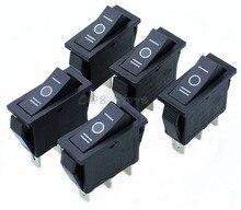 5 pcs x AC 15A 250 V/20A 125 V 3 ขา SPDT KCD3 ON   OFF   ON 3 ตำแหน่งสีดำเรือ Rocker Switch