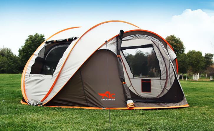 5 8 Person 280*200*120cm Ultralight Large C&ing Tent Waterproof Windproof Shelter Pop Up Automatic Tents Travel Hiking Tents-in Tents from Sports ... : 8 person pop up tent - memphite.com