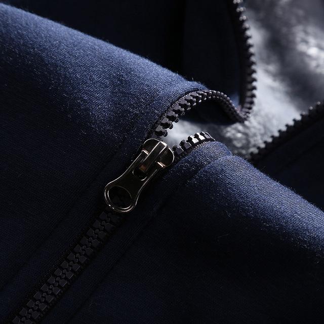 Grandwish Tracksuit Mens Casual Warm Sportwear Hooded Winter Thick fleece Cardigans Sets Moleton Masculino Sweatshirt Men ,DA881