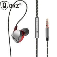 QKZ CK7 for iphone earphone gaming headset with mic hifi bass music earphones clamp fone de ouvido for samsung for xiaomi earbud(China)