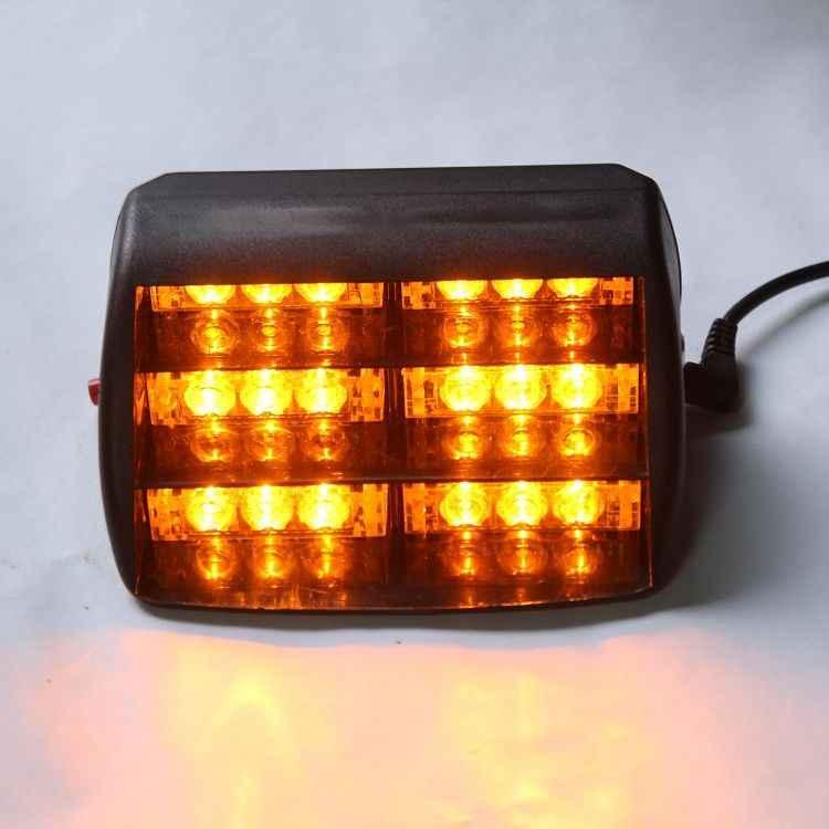 Светодиодный проблесковый стробоскоп лампы красные, синие желтый автомобиль авто грузовик Предупреждение светильник 18-светодиодный аварийный 3 Режимы вспышки предупреждающий светильник s