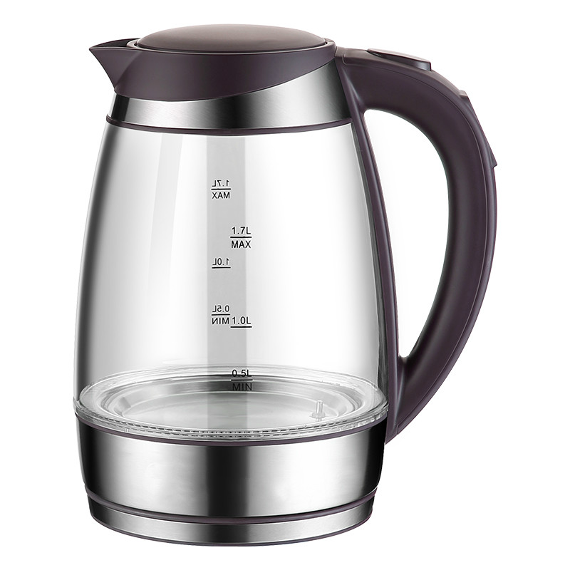 NEW Glass electric kettle household insulation 304 stainless steel boiling water electric kettle boiling pot 304 stainless steel home insulation 1 5l