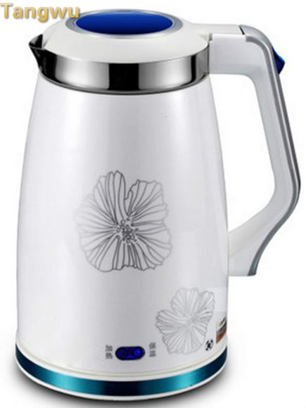 Free shipping Electric kettle full stainless steel heat preservation