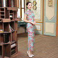 Top Grade New Arrival Chinese Traditional Women's Velour Hand-Made Button Long Cheong-sam Dress S M L XL XXL