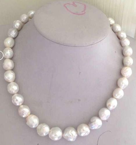gorgeous 12-13mm freshwater white kasumi pearl necklace 18inch 925silver gold claspgorgeous 12-13mm freshwater white kasumi pearl necklace 18inch 925silver gold clasp