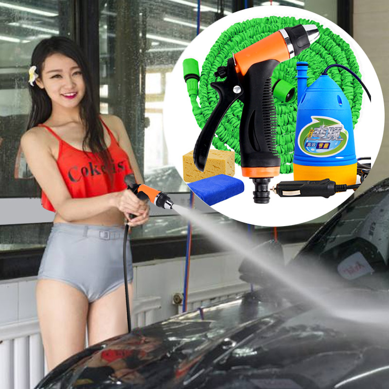 car wash 12v car washer Gun pump high pressure cleaner washing machine pressure power auto wash water pump pressure washer portable water pump cigarette lighter high pressure 12v spray gun car cleaner self suction electric car washer