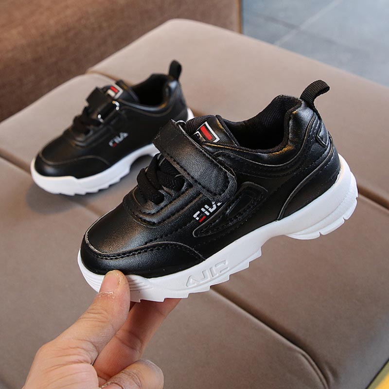 Classic fashion girls boys sneakers All season rubber sports infant tennis cool children casual shoes solid kids sneakers