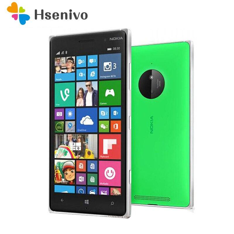 830 Débloqué Nokia Lumia 830 téléphone portable 5.0 écran tactile 16 gb ROM Quad Core 10MP WIFI GPS portable téléphone livraison gratuite