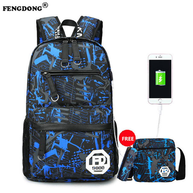 Aliexpress.com : Buy FENGDONG Male Backpack For Teenagers Laptop ...
