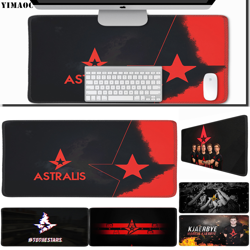 Mouse Pads Frugal Yimaoc 30*60 Cm Large Mouse Pad Gamer Mousepad Rubber Gaming Desk Mat With Locking Edge Astralis Mouse & Keyboards