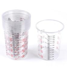10pcs פלסטיק צבע ערבוב כוסות 600ml ערבוב סירי צבע ערבוב מכויל כוס לערבוב מדויק וצבע נוזלים