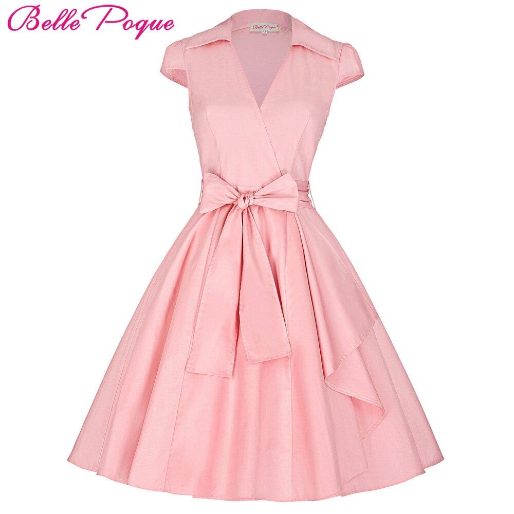 Belle Poque Women Summer Dresses 2018 Office Clothing robe V