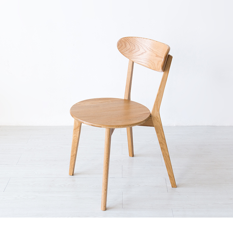 Solid wood dining chair Nordic style dining chair hotel chair plastic dining chair can be stacked the home is back chair negotiate chair hotel office chair