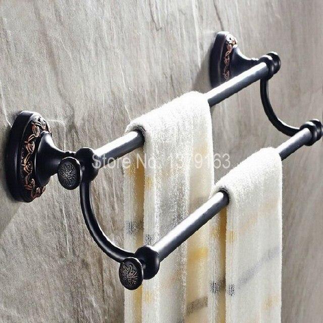 Badzubehör Handtuchhalter aliexpress com badzubehör schwarz öl eingerieben messing