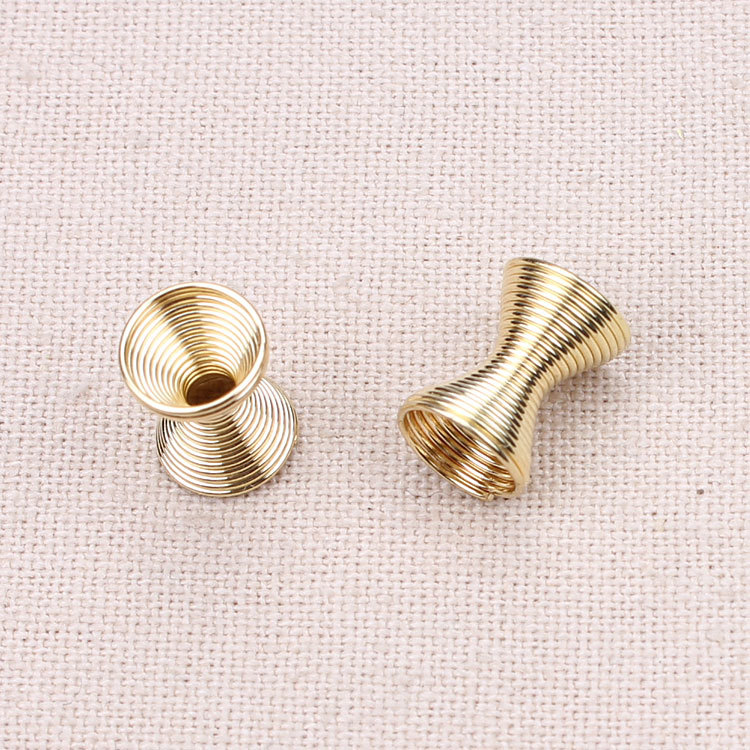 20pcs/lot 8*11mm Gold/silver Metal Iron Wire Spring Beads Spacer Beading DIY Fittings Accessories